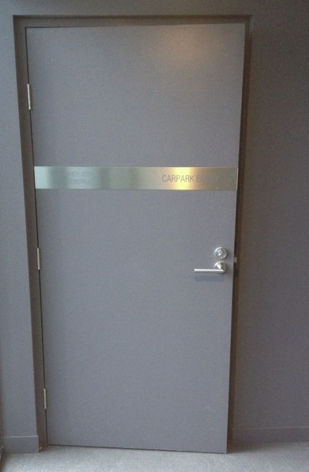 Non Rated Pressed Metal Door Frame Australian Commercial